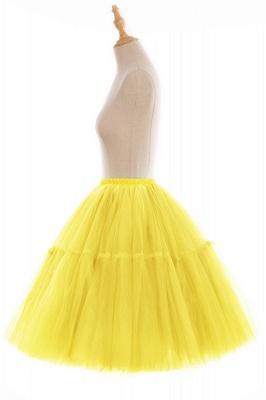 Elegant Tulle Short Ball-Gown Knee Length Elastic Women Skirts_88