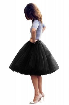 Elegant Tulle Short Ball-Gown Knee Length Elastic Women Skirts_33