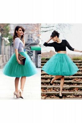 Elegant Tulle Short Ball-Gown Knee Length Elastic Women Skirts_57