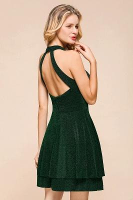 Green Halter Sleeveless Sequined Backless Sheath Homecoming Dresses | Short Cocktail Dresses_10