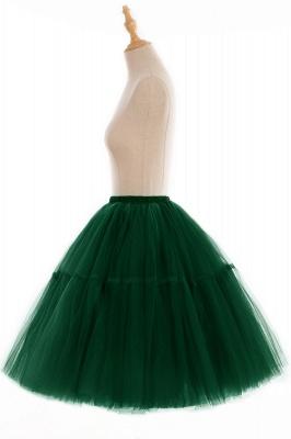 Elegant Tulle Short Ball-Gown Knee Length Elastic Women Skirts_103