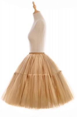 Elegant Tulle Short Ball-Gown Knee Length Elastic Women Skirts_91