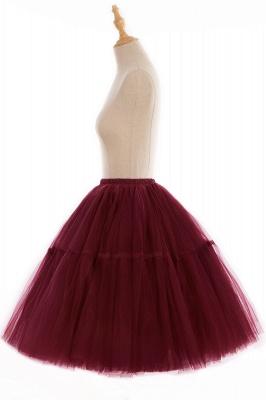 Elegant Tulle Short Ball-Gown Knee Length Elastic Women Skirts_92