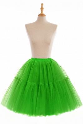 Elegant Tulle Short Ball-Gown Knee Length Elastic Women Skirts_18