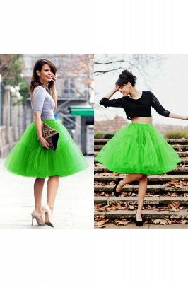 Elegant Tulle Short Ball-Gown Knee Length Elastic Women Skirts_49