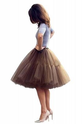 Elegant Tulle Short Ball-Gown Knee Length Elastic Women Skirts_7