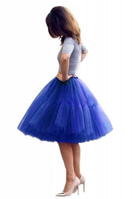 Elegant Tulle Short Ball-Gown Knee Length Elastic Women Skirts_23