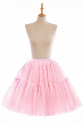 Elegant Tulle Short Ball-Gown Knee Length Elastic Women Skirts_3