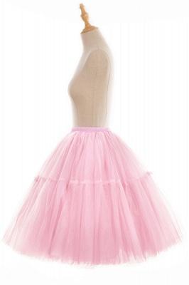 Elegant Tulle Short Ball-Gown Knee Length Elastic Women Skirts_86