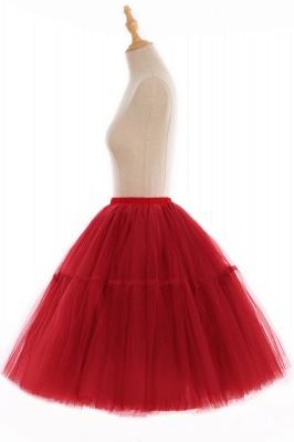 Elegant Tulle Short Ball-Gown Knee Length Elastic Women Skirts_82