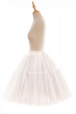 Elegant Tulle Short Ball-Gown Knee Length Elastic Women Skirts_101