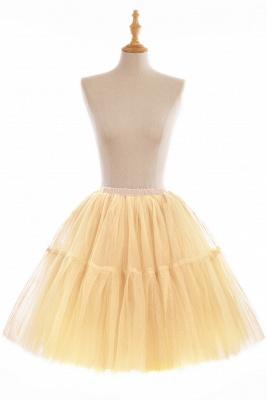 Elegant Tulle Short Ball-Gown Knee Length Elastic Women Skirts_9