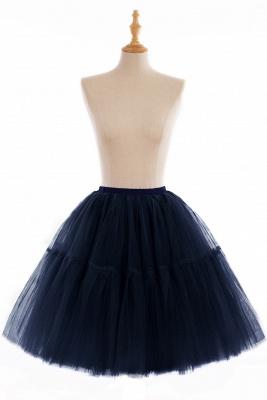 Elegant Tulle Short Ball-Gown Knee Length Elastic Women Skirts_14