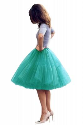 Elegant Tulle Short Ball-Gown Knee Length Elastic Women Skirts_56