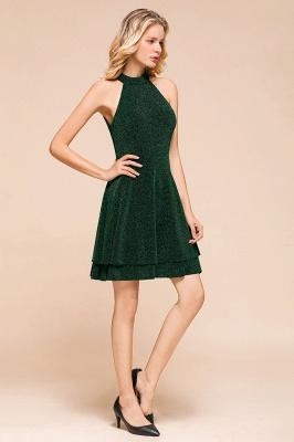 Green Halter Sleeveless Sequined Backless Sheath Homecoming Dresses | Short Cocktail Dresses_8