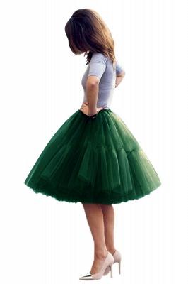 Elegant Tulle Short Ball-Gown Knee Length Elastic Women Skirts_59