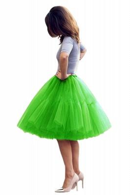 Elegant Tulle Short Ball-Gown Knee Length Elastic Women Skirts_52