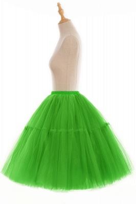 Elegant Tulle Short Ball-Gown Knee Length Elastic Women Skirts_96