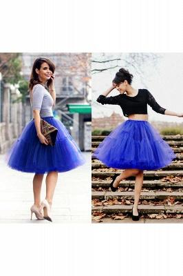 Elegant Tulle Short Ball-Gown Knee Length Elastic Women Skirts_32