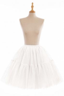 Elegant Tulle Short Ball-Gown Knee Length Elastic Women Skirts_1