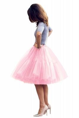 Elegant Tulle Short Ball-Gown Knee Length Elastic Women Skirts_29