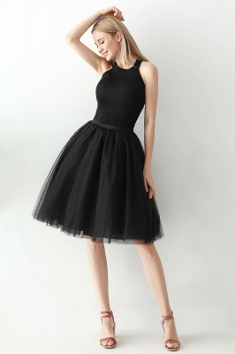 Jewel Sleevelss Knee Length A-line Cute Short Party Dresses_63