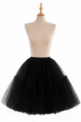 Elegant Tulle Short Ball-Gown Knee Length Elastic Women Skirts_15