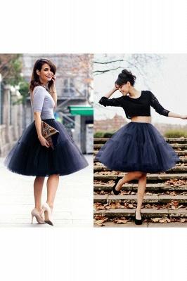 Elegant Tulle Short Ball-Gown Knee Length Elastic Women Skirts_34