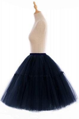 Elegant Tulle Short Ball-Gown Knee Length Elastic Women Skirts_78