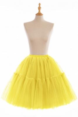 Elegant Tulle Short Ball-Gown Knee Length Elastic Women Skirts_11