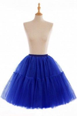 Elegant Tulle Short Ball-Gown Knee Length Elastic Women Skirts_13