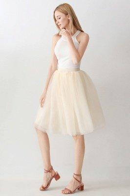 Jewel Sleevelss Knee Length A-line Cute Short Party Dresses_113