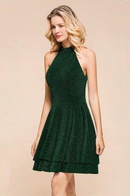 Green Halter Sleeveless Sequined Backless Sheath Homecoming Dresses | Short Cocktail Dresses_7