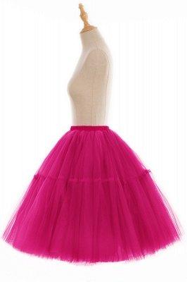 Elegant Tulle Short Ball-Gown Knee Length Elastic Women Skirts_99