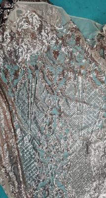 Jewel Illusion Neck Sequin Mermaid Prom Dresses with Ruffle Train_3
