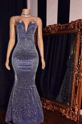 Strapless Sweetheart Floor Length Metallic Fitted Prom Dresses_1