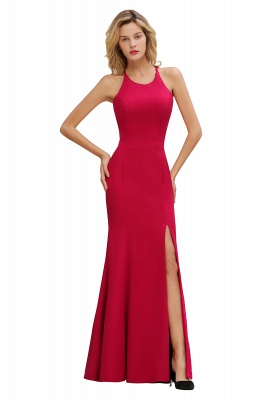 Sexy Red Halter Mermaid Prom Dress Long Evening Gowns Online_13
