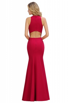 Sexy Red Halter Mermaid Prom Dress Long Evening Gowns Online_10