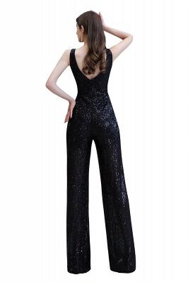 Women's Fashion V-neck Straps Sparkly Sequin Prom Jumpsuit_30