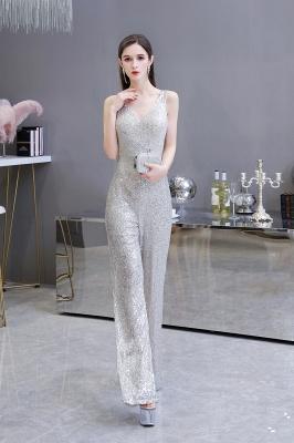 Women's Fashion V-neck Straps Sparkly Sequin Prom Jumpsuit_6
