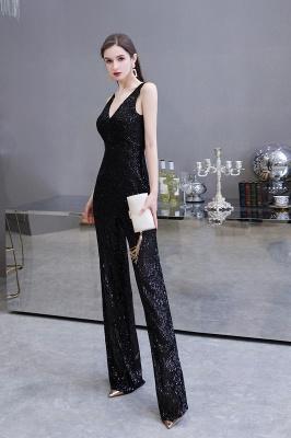 Women's Fashion V-neck Straps Sparkly Sequin Prom Jumpsuit_18
