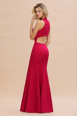 Sexy Red Halter Mermaid Prom Dress Long Evening Gowns Online_6