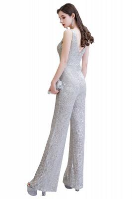 Women's Fashion V-neck Straps Sparkly Sequin Prom Jumpsuit_24