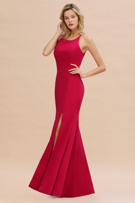 Sexy Red Halter Mermaid Prom Dress Long Evening Gowns Online_3