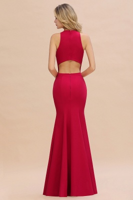 Sexy Red Halter Mermaid Prom Dress Long Evening Gowns Online_11