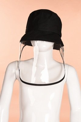 Bucket Hat With Mask Eye Protection Fishing Hat Cap Anti-pollen Mask Anti-saliva Cover Full Face Caps 2020 Safety Hat_4