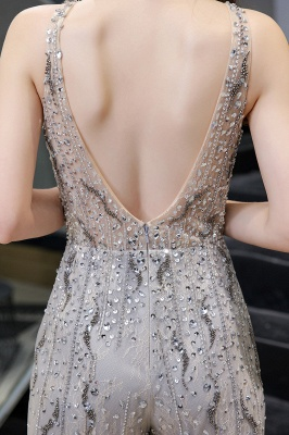 Round Neck Sleeveless Open Back Beaded Sparkly Prom Jumpsuit_11