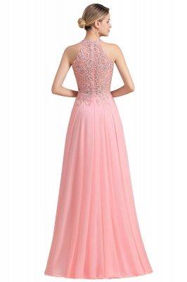 Halter Full Back Applique Beaded Pearls Chiffon A Line Prom Dresses_24