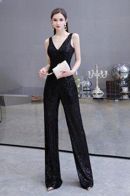 Women's Fashion V-neck Straps Sparkly Sequin Prom Jumpsuit_19