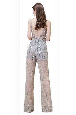 Round Neck Sleeveless Open Back Beaded Sparkly Prom Jumpsuit_15